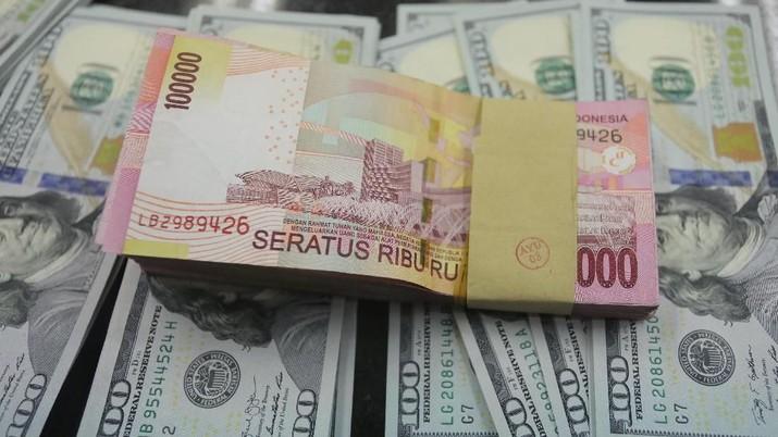 Dolar AS semakin jauh dari level Rp 14.000.