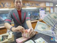 Pukul 10:00 WIB: Rupiah Melemah 0,34% ke 14.515 per Dolar AS