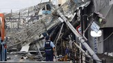 Dikarenakan Jepang telah bersiap menghadapi topan Jebi, berbagai maskapai penerbangan domestik juga memutuskan untuk membatalkan penerbangan sementara. (AFP PHOTO / JIJI PRESS)