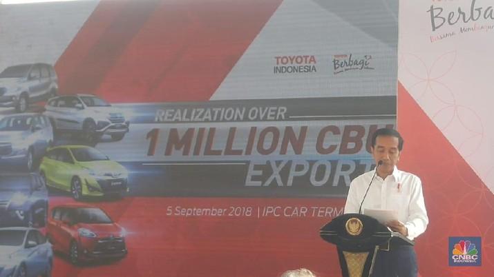 Presiden Joko Widodo ingin sektor otomotif menjadi andalan Indonesia.