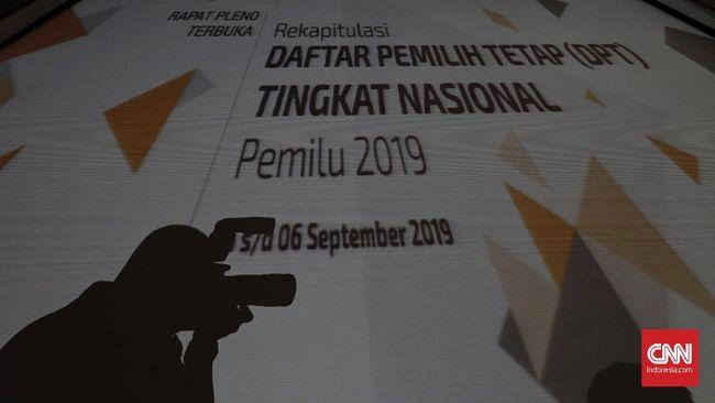 KPU Tetapkan Jumlah DPT Nasional Meski Bermasalah