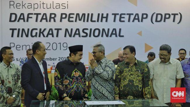 KPU Umumkan Rekapitulasi Pemilih Tetap Pemilu 2019 Hari Ini
