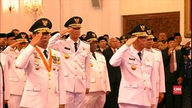 VIDEO: Sembilan Gubernur-Wagub yang Telah Dilantik Jokowi