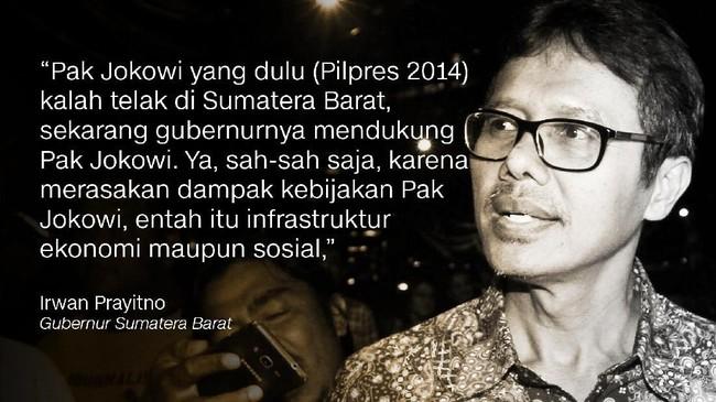 Iwan Prayitno, Gubernur Sumatera Barat.