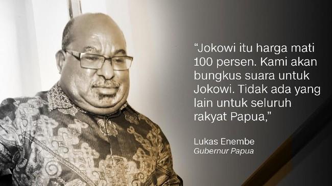 Lukas Enembe, Gubernur Papua.