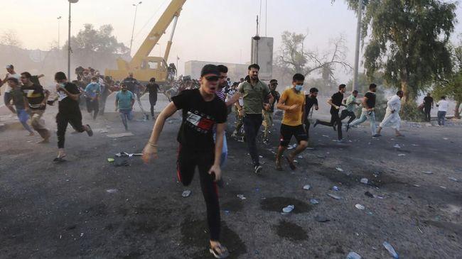 Korban Tewas Demo Irak 10 Orang, Gedung Pemerintah Dibakar