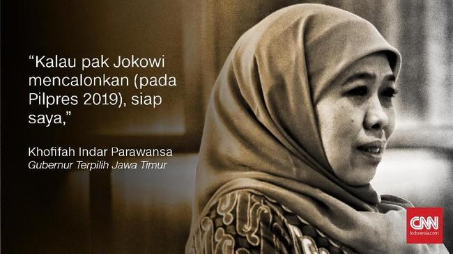 Khofifah Indar Parawansa, Gubernur Jawa Timur terpilih.