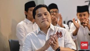 Erick Thohir Bungkam Soal Petisi Dukungan Ketua Umum PSSI