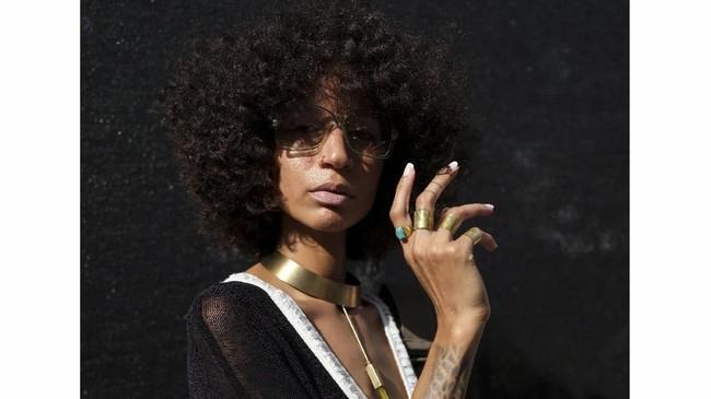 Aziza Nicole berpose di Brooklyn, New York, AS, 25 Agustus 2018.