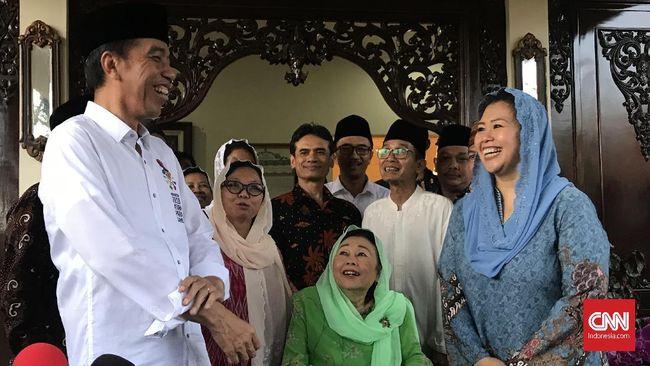 Maju Pilpres 2019, Jokowi Minta Doa Restu Istri Gus Dur