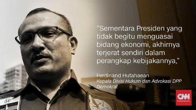 Ferdinand Hutahaean, Kepala Divisi Hukum dan Advokasi DPP Demokrat.