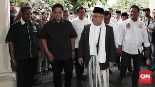 Ma'ruf Amin Rapat Perdana dengan Tim Kampanye Jokowi