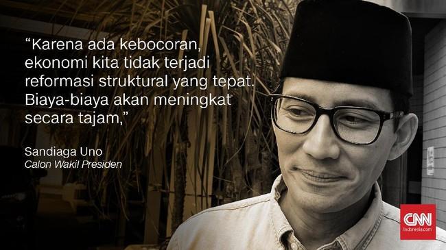 Sandiaga Uno, Bakal Calon Wakil Presiden.