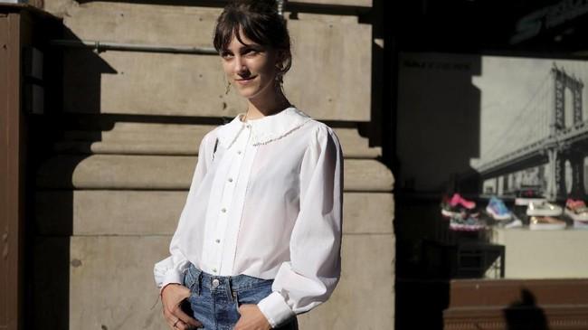 Kat McClanahan (23) berpose di Manhattan, New York, AS, 3 September 2018.
