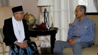 Ma'ruf Amin Temui Mahathir Mohamad di Malaysia