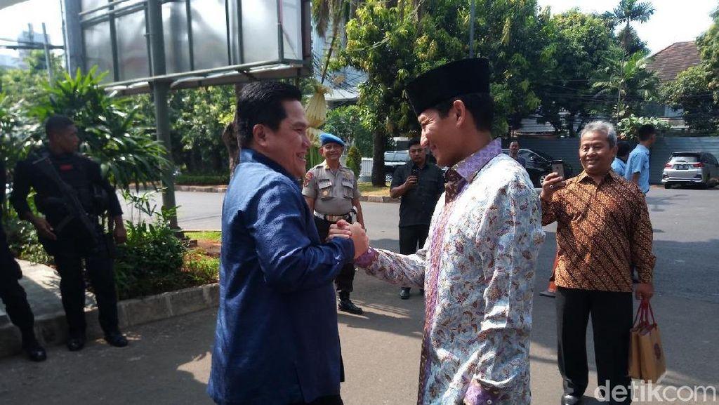 Erick Thohir Jadwalkan Bertemu Sandiaga: Persahabatan Nggak Putus