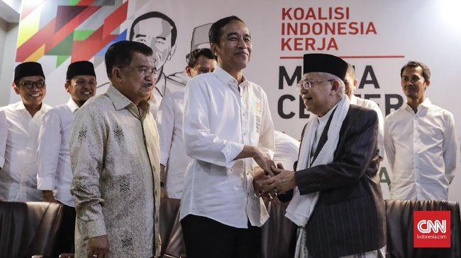 Gunakan Land Rover Kelap-kelip, Jokowi-Ma'ruf Tiba di KPU