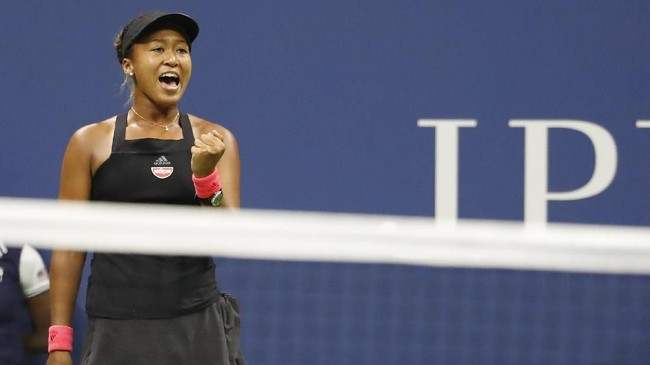 Naomi Osaka berhasil menjadi petenis Jepang pertama yang mampu memenangkan grand slam Amerika Serikat Terbuka. (REUTERS/Geoff Burke-USA TODAY Sports)