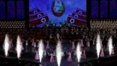 Penyanyi dan tentara tampil saat konser pada malam peringatan 70 tahun berdirinya Korea Utara di Pyongyang, 8 September 2018. (REUTERS/Danish Siddiqui)