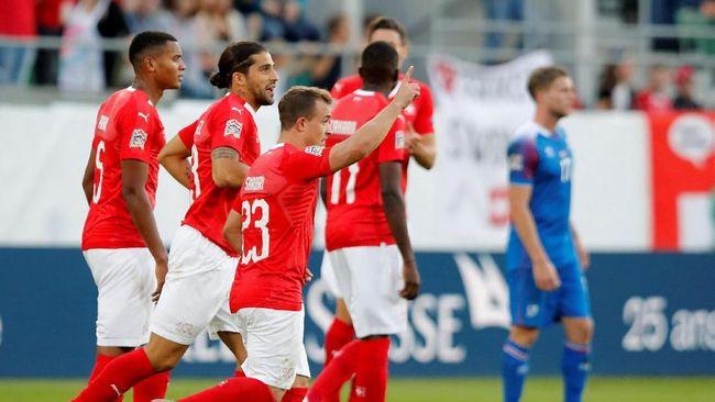 Swiss Pesta Gol Kalahkan Islandia di UEFA Nations League