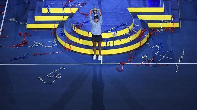 Dengan kemenangan di Amerika Serikat Terbuka, Naomi Osaka akan naik ke posisi tujuh dunia. (REUTERS/Danielle Parhizkaran-USA TODAY SPORTS)