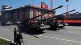 Artileri saat parade militer menandai peringatan 70 tahun pendirian Korea Utara di Pyongyang, Korea Utara, 9 September 2018. (REUTERS/Danish Siddiqui)