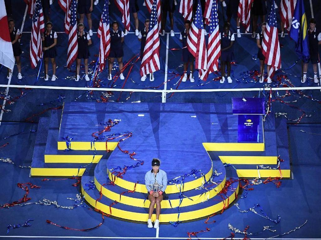 Naomi Osaka menjadi petenis Jepang pertama yang menjuarai turnamen Grand Slam setelah mengalahkan Serena Williams. Robert Deutsch/USA Today Sports/Reuters.