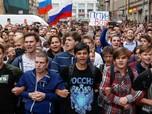 Ratusan Warga Ditangkap Akibat Demo Kebijakan Putin di Rusia