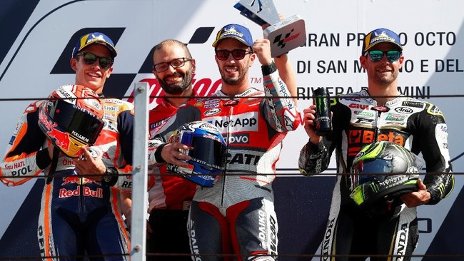 FOTO: Kemenangan Perdana Dovizioso di MotoGP San Marino