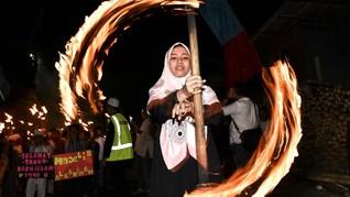 FOTO: Pawai Obor Merayakan Tahun Baru Islam 1440 Hijriyah