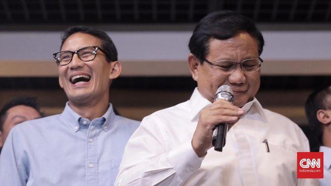 Ambil Nomor Urut, Prabowo-Sandi Berangkat dari Menteng