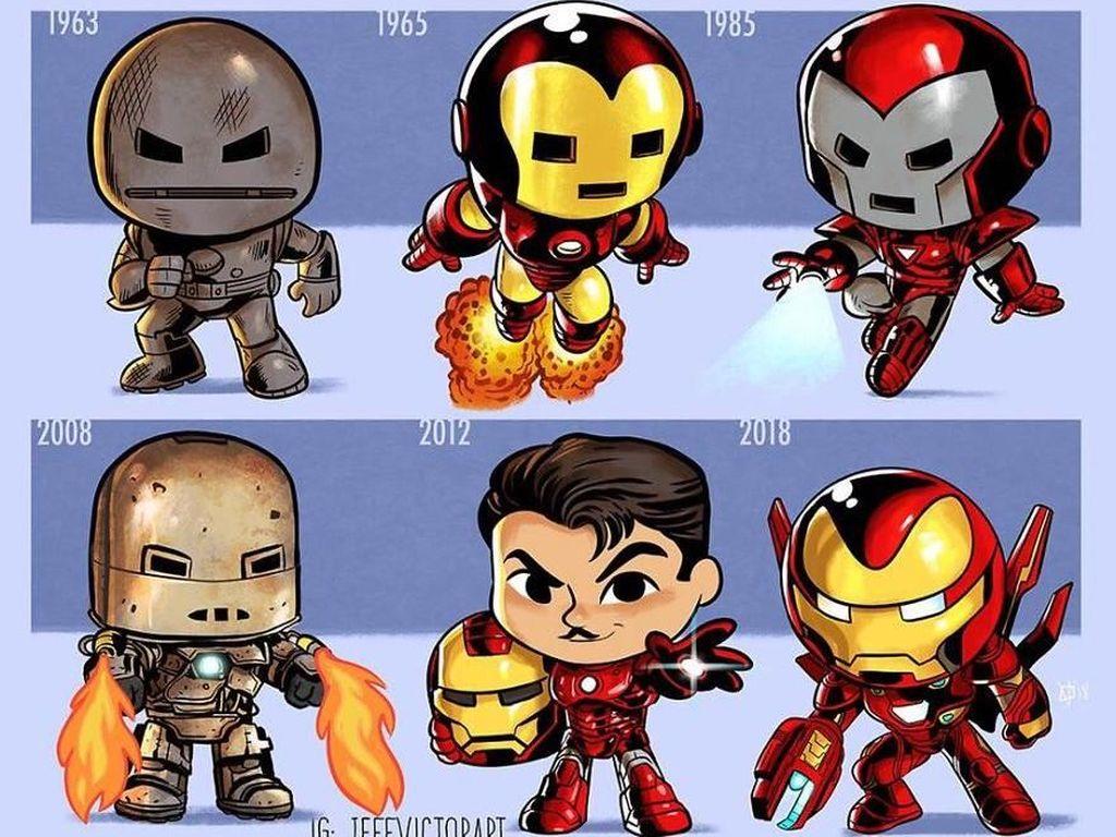 Iron Man, dari tahun 1963 hingga 2018. (Foto: Jeff Victor)