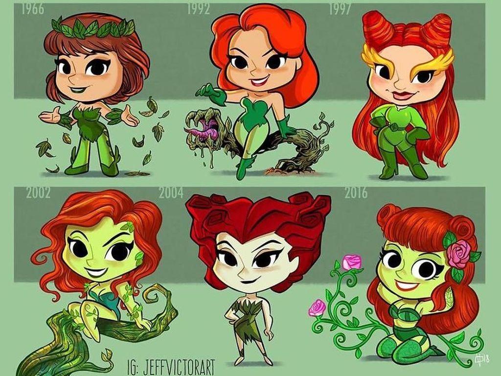 Poison Ivy, dari tahun 1966 hingga tahun 2016. (Foto: Jeff Victor)
