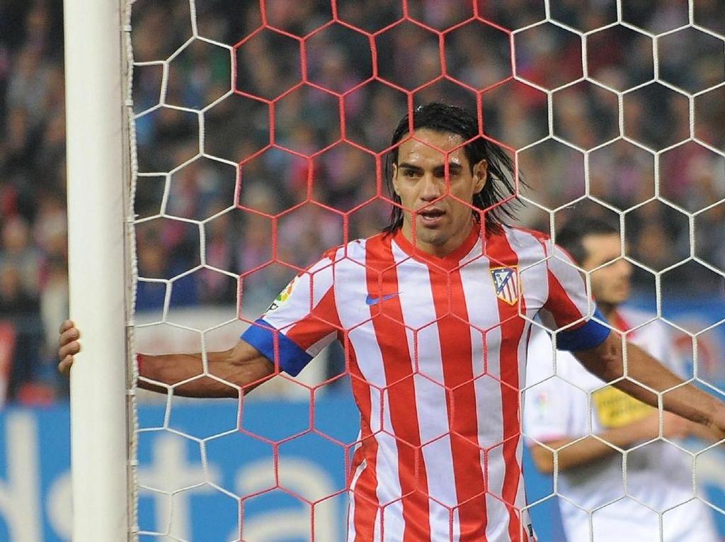 Radamel Falcao dilepas Atletico Madrid dengan harga 43 juta euro pada tahun 2013. (Denis Doyle/Getty Images)
