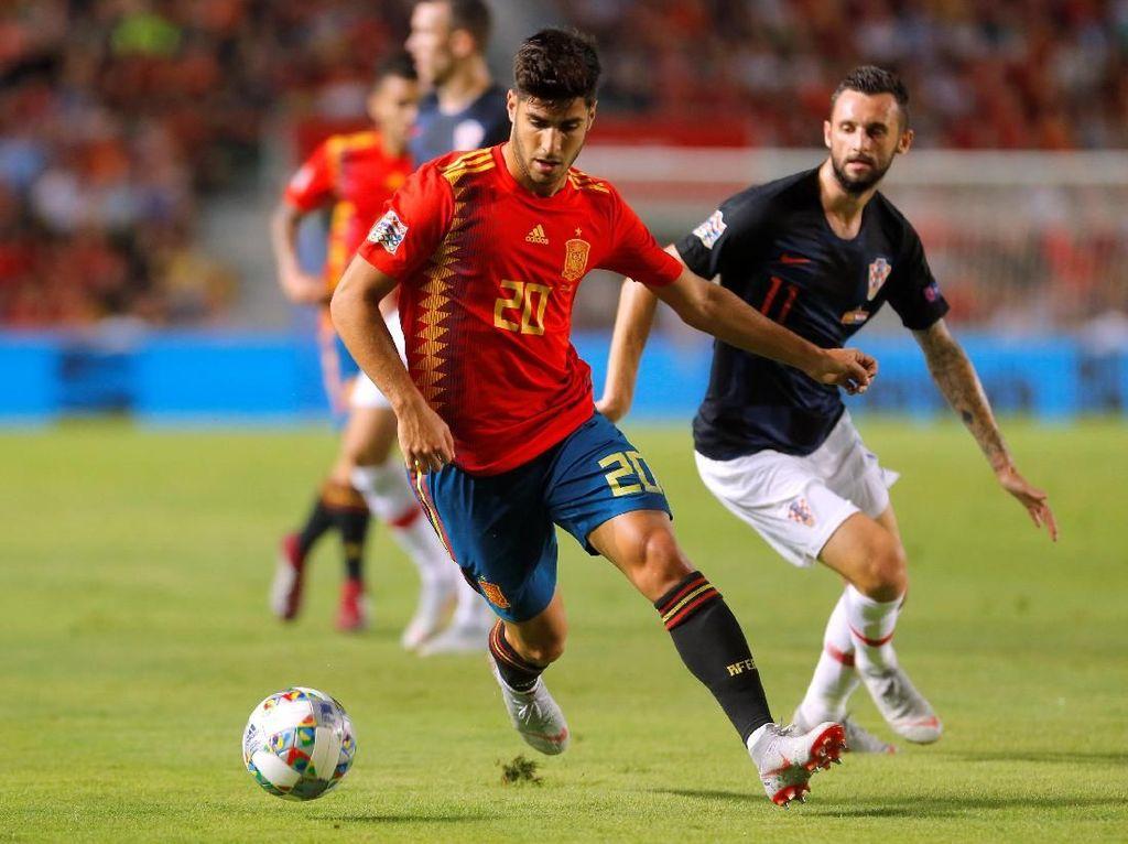 Asensio mencetak satu gol dan tiga assist dalam pertandingan itu. Dia menjadi penampil terbaik. (Foto: Heino Kalis/Reuters)