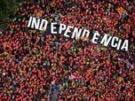 Lautan Manusia Ikuti Demo Tuntut Kemerdekaan Katalunya