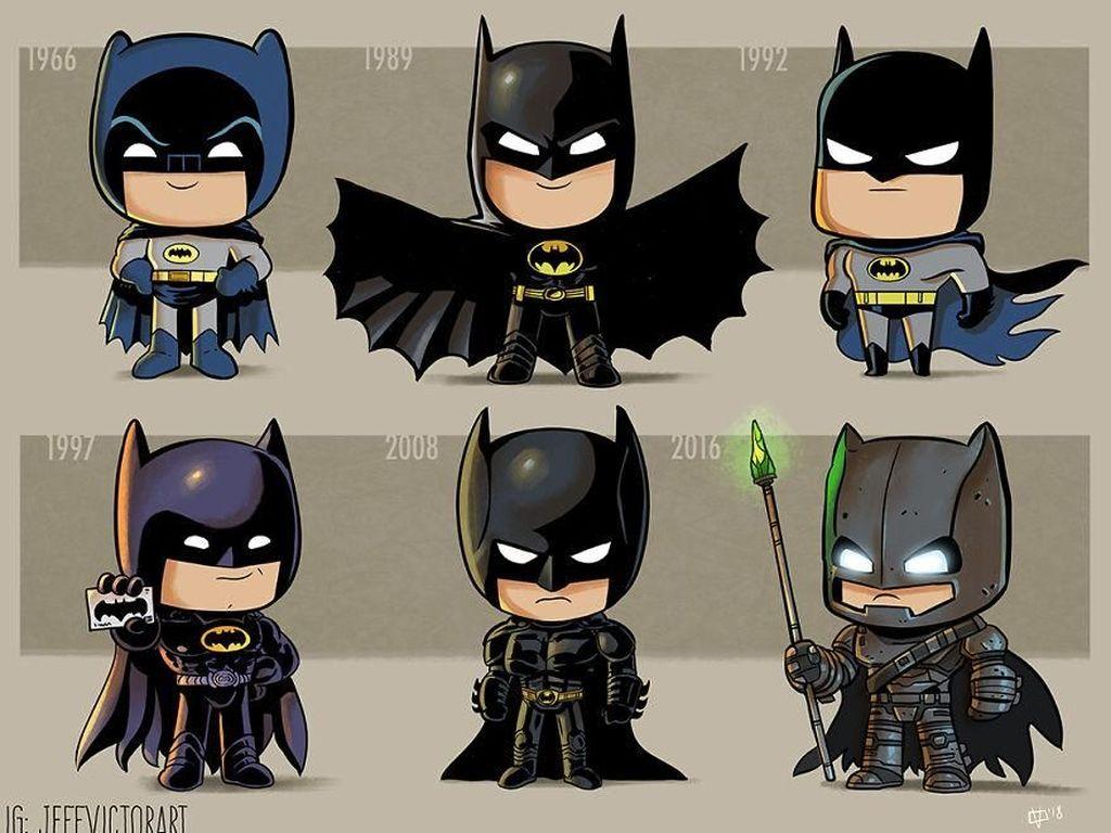 Batman, dari tahun 1966 dan 2016. (Foto: Jeff Victor)