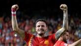 Dilansir dari ESPN, Manchester City berupaya mendapatkan gelandang Atletico Madrid, Saul Niguez. (REUTERS/Heino Kalis)
