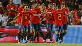 FOTO: Timnas Spanyol Bantai Kroasia di UEFA Nations League