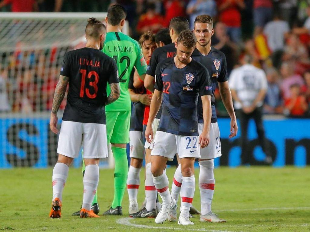 Kroasia pun mencatatkan kekalahan terbesar dalam sepanjang sejarah sepakbola mereka. Sebelumnya, kekalahan terbesar mereka pernah kalah 1-5 dari Jerman di tahun 1941 dan 1942. (Foto: Heino Kalis/Reuters)