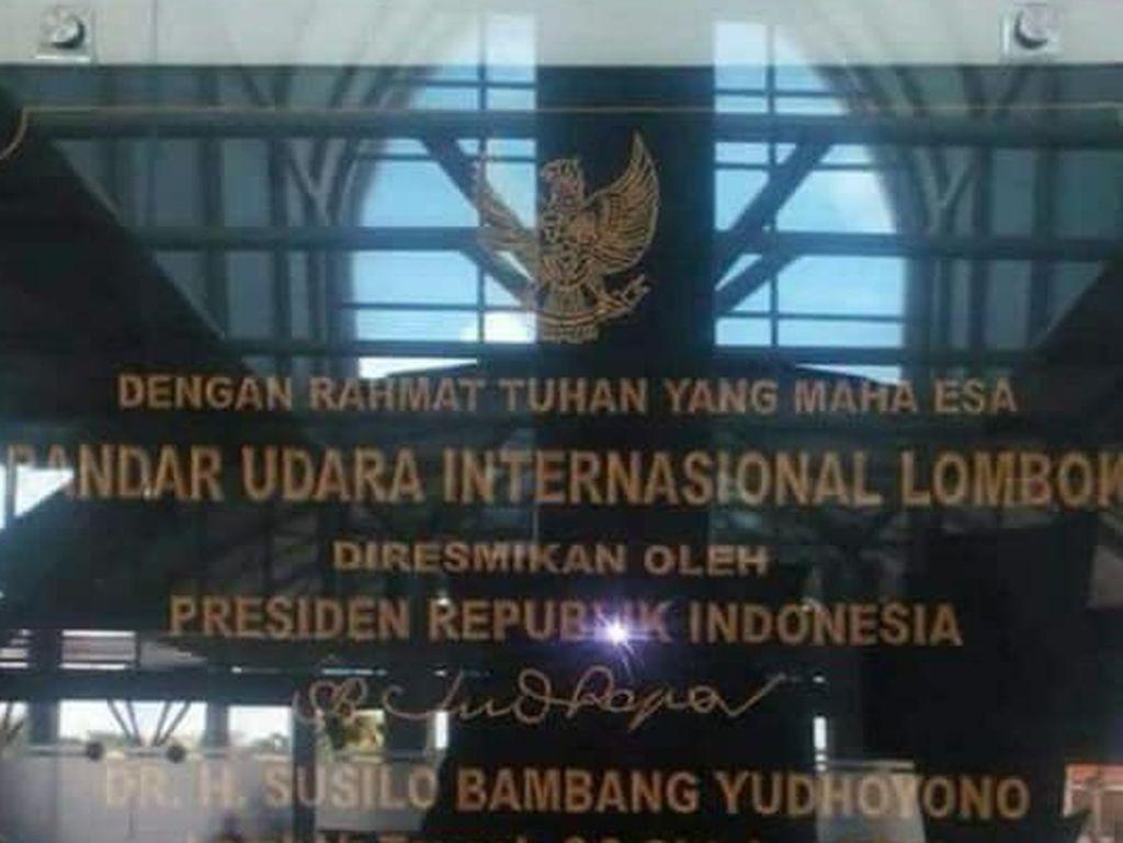 Soal pergantian prasasti, SBY mengungkapkan dirinya tidak memiliki hak untuk menghalangi. Menurutnya jejak sejarah seseorang bisa saja dihapus oleh manusia tapi tidak oleh Tuhan. Foto: dok. istimewa