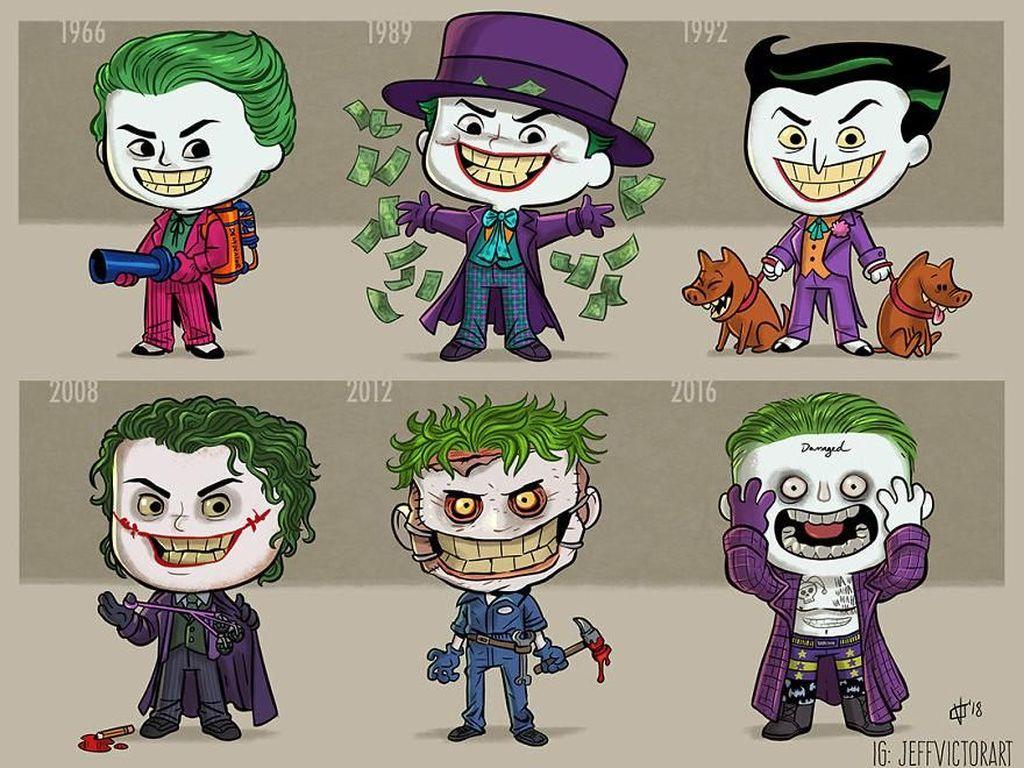 Joker, dari tahun 1966 hingga 2016. (Foto: Jeff Victor)