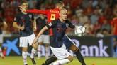 Timnas Spanyol menghadapi Kroasia dalam laga lanjutan UEFA Nations League di Elche, Spanyol, Rabu (11/9). (REUTERS/Heino Kalis)