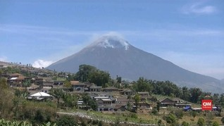 VIDEO: Kebakaran Ancam Seismograf di Gunung Sindoro