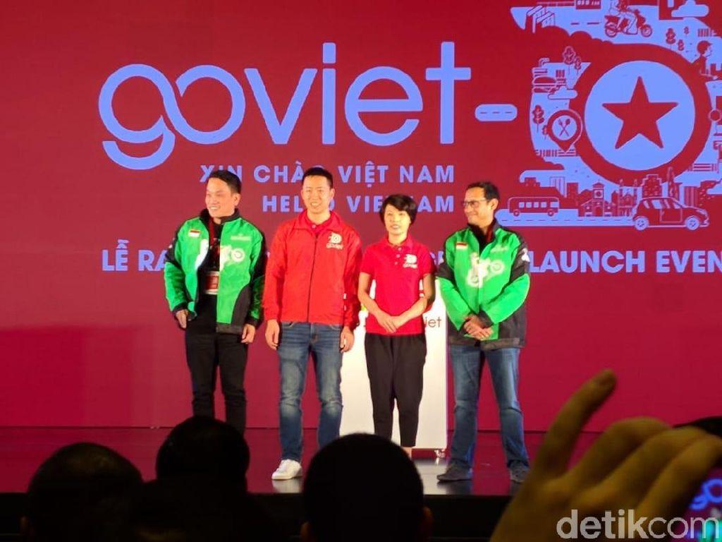 Ini menggabungkan teknologi dan investasi Go-Jek dengan keahlian tim lokal Go-Viet. Kami bangga bisa membagi teknologi Indonesia untuk bisa dimanfaatkan oleh masyarakat Vietnam, ujar Nadiem. (Foto: detikINET/Adi Fida Rahman)