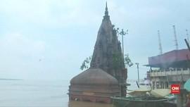 VIDEO: Hujan Tak Henti, Kota Suci Varanasi di India Tergenang