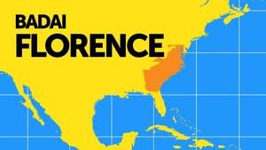 Infografis: Peta Perjalanan Badai Florence