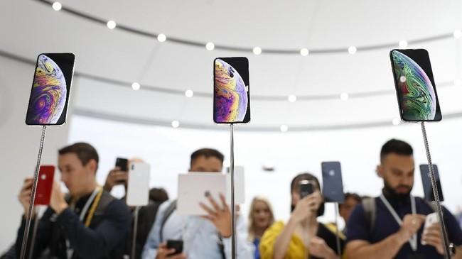 Apple kembali memperkenalkan generasi penerus iPhone diSteve Jobs Theater, Cupertino, California, AS pada 13 September 2018. (REUTERS/Stephen Lam)