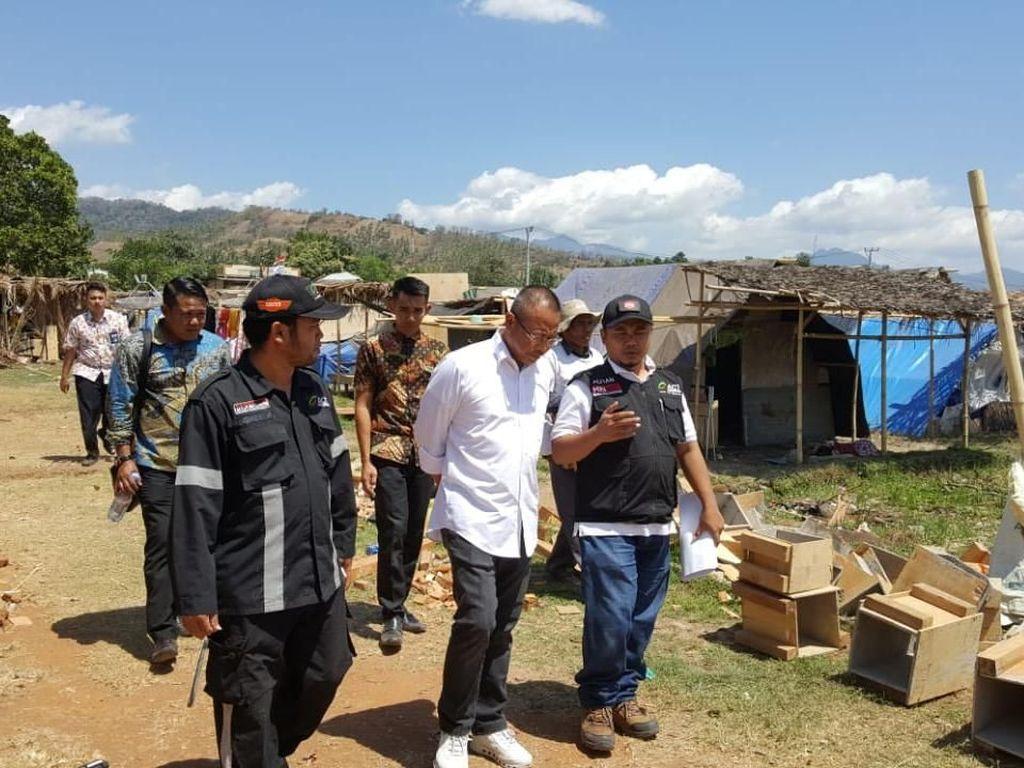 Bantuan ini akan didistribusikan di 210 titik posko ACT yang tersebar di seluruh pulau Lombok. Pool/Askrindo Syariah.