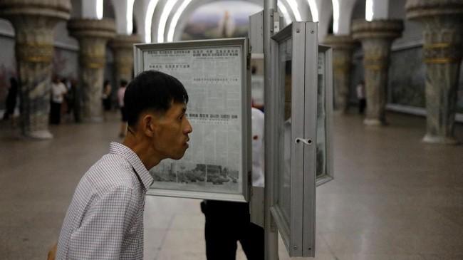 Jalur kereta di Korea Utara membentang hingga 6.000 kilometer.